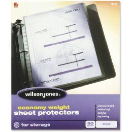 Wilson Jones 21420 Economy Weight Sheet Protector - Sheet protector