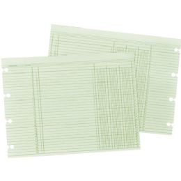10 Units of Wilson Jones 3-Column Numbered Ledger Paper - Paper