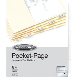 48 Units of Wilson Jones 5-Tab Pocket Indexes - File Folders & Wallets