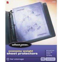 Wilson Jones Econ.wt. ToP-Load Sht Protectors - Office Supplies