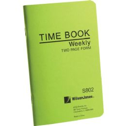 Wilson Jones Foreman's Pocket Size Time Books - Office Supplies