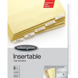 144 Units of Wilson Jones Gold Line Insertable Indexes - Office Supplies