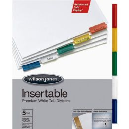 Wilson Jones Gold Pro Insertable Tab Index - Office Supplies