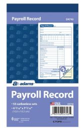 """25 Units of Employee Payroll Record Book, 2-Part, 4-3/16"""" X 7-3/16"""", 55 St/bk - Record book"""