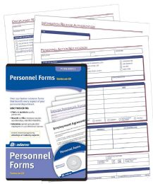 Employee Personnel Forms, Cd With 65 Forms - Office Supplies
