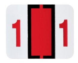 """25 Units of End Tab Numeric Labels - 1-1/4"""" X 3/4"""" Number """"1"""" - Labels"""