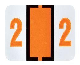 "25 Units of End Tab Numeric Labels - 1-1/4"" X 3/4"" Number ""2"" - Labels"
