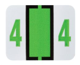 """25 Units of End Tab Numeric Labels - 1-1/4"""" X 3/4"""" Number """"4"""" - Labels"""