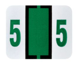 """25 Units of End Tab Numeric Labels - 1-1/4"""" X 3/4"""" Number """"5"""" - Labels"""