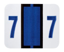 """25 Units of End Tab Numeric Labels - 1-1/4"""" X 3/4"""" Number """"7"""" - Labels"""