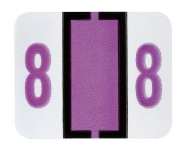 """25 Units of End Tab Numeric Labels - 1-1/4"""" X 3/4"""" Number """"8"""" - Labels"""