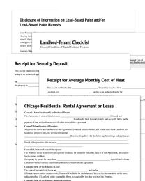Adams Residential LeasE-Chicago, Forms And Instructions - Office Supplies
