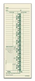 8 Units of Adams Time Card, Weekly, 1-Sided, Numbered Days, 200 Cards Per Pack - Office Supplies