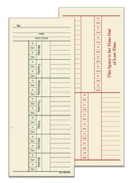 8 Units of Adams Time Card, Weekly, 2-Sided, With Overtime, 200 Cards Per Pack - Office Supplies