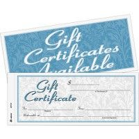Adams TwO-Part Carbonless Gift Certificates - Office Supplies