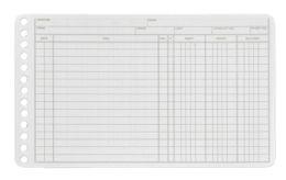 "12 Units of Adams 100-Pk. Credit/debit Sheets For 6-Ring Account Binder, 5"" X 8-3/8"". - Binders"