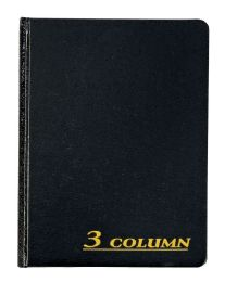 "6 Units of Adams Account Book, 3 Column, 7"" X 9-1/4"", 80 Pages - Office Supplies"