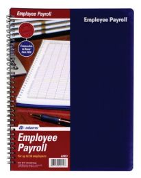 """12 Units of Adams Employee Payroll Record, 50-Employee Capacity, 8-1/2""""x11"""". - Office Supplies"""