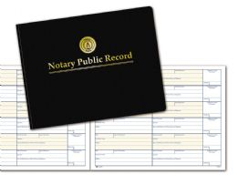"6 Units of Adams Notary Public Record Book, 6 Entries Per Page, 8-1/2"" x 11"" - Record book"
