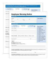 Adams Warning Notice Forms - Office Supplies