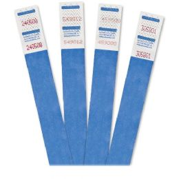 Advantus 500-Pack Tyvek Colored Wrist Bands - Office Supplies