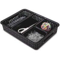 Advantus 5-Pack Plastic Weave Bins - Storage & Organization