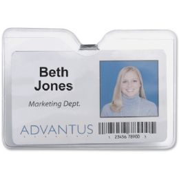 Advantus 75456 ID Badge Holder with Clip - Badge holder