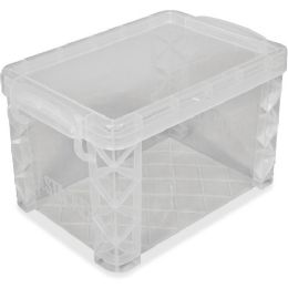 "Advantus Card File Box, Super Stacker, 4""x6"", Clear - File Folders & Wallets"