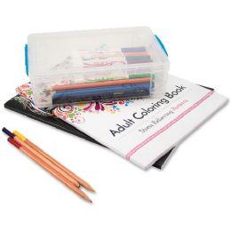 Advantus Clear Large Pencil Box - Office Supplies