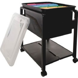 Advantus Folding Mobile Filing Cart - Office Supplies