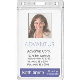 Advantus Frosted Vertical Badge Holder - Badge holder