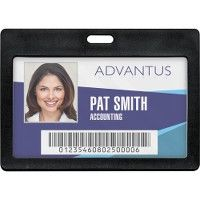Advantus Horizontal Rigid ID Badge Holder - Badge holder