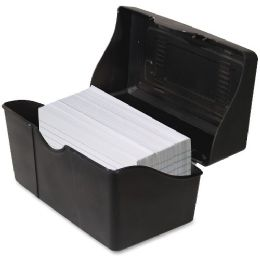 "Advantus Index Card Holders, 3""x5"", Black - Office Supplies"