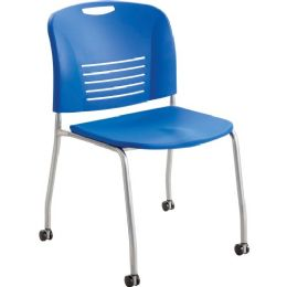 Safco Vy Straight Leg Stack Chairs W/ Casters - Office Chairs