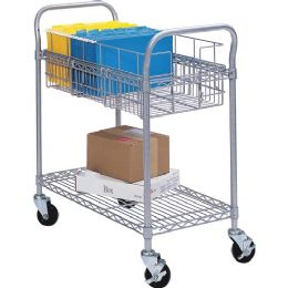 Safco Wire Mail Cart - Office Supplies