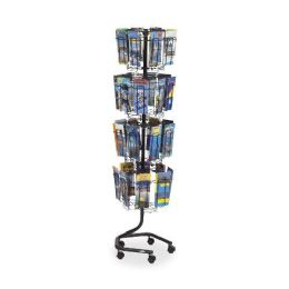 Safco Wire Rotary Brochure Rack - Office Supplies