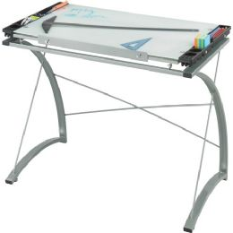 Safco Xpressions Glass Top Drafting Table - Office Supplies