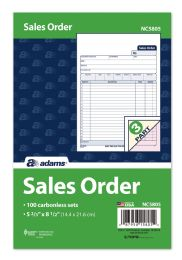 "8 Units of Sales Order Book, 3-Part, Carbonless, 5-2/3"" X 8-1/2"", 100/pk - Order book"