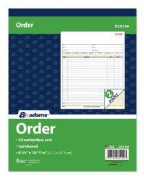 5 Units of Sales Order Book, Carbonless, 2-Part, 50 ST/BK - Order book
