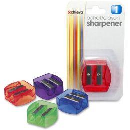 Oic Dual Purpose Pencil & Crayon Sharpener - Pens & Pencils