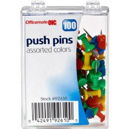 Oic Plastic Precision Push Pins - Office Supplies