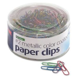 288 Units of Oic Pvc Free Color Coated Clips - Office Supplies