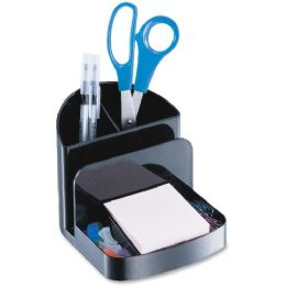 OIC Recycled Deluxe Desk Organizer, Black - Office Supplies