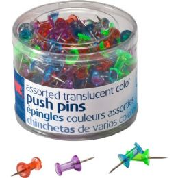 Oic Translucent Push Pins - Office Supplies