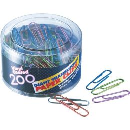 Oic Translucent Vinyl Paper Clips - Paper clips