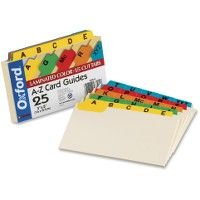 Oxford A-Z Laminated Tab Card Guides - Office Supplies