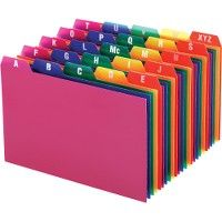 Oxford A-Z Poly Filing Index Cards - Office Supplies
