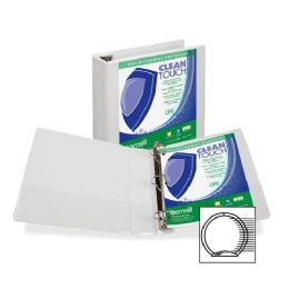 156 Units of Samsill Antimicrobial Insertable Round Ring Binder - Binders