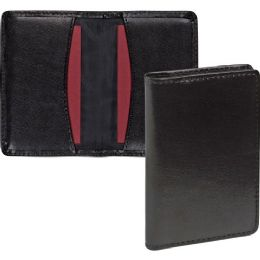 Samsill Carrying Case (wallet) For Business Card - Black - Business cards