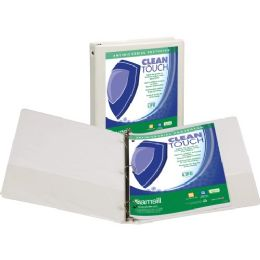 Samsill Clean Touch Antimicrobial Economy View - Round Ring - Office Supplies